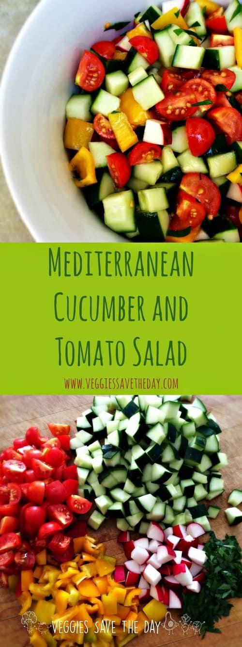 Mediterranean Cucumber and Tomato Salad