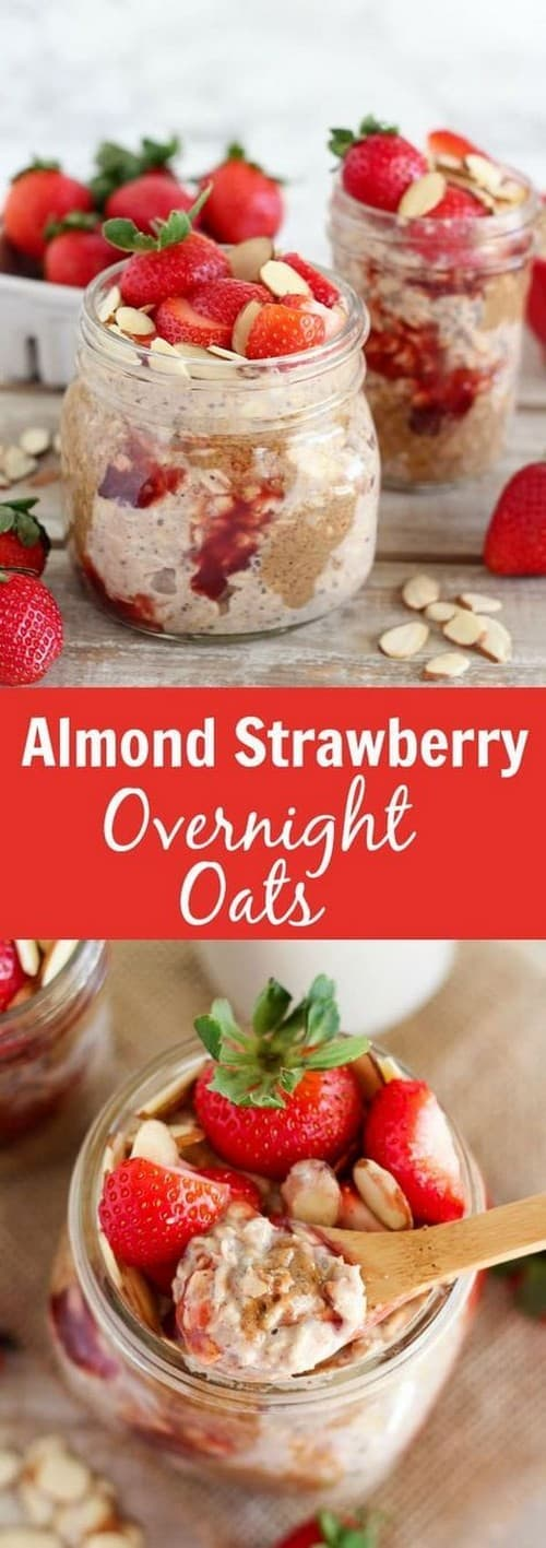 Mediterranean Almond Strawberry Overnight Oats