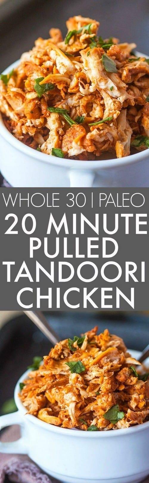 Whole30 Pulled Tandoori Chicken