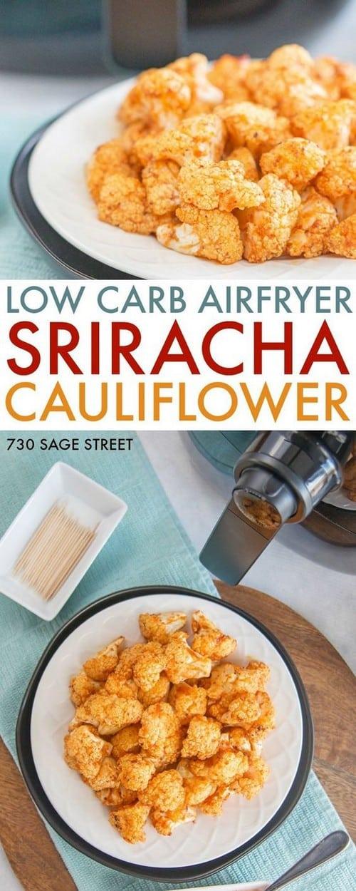 Keto Sriracha Cauliflower Appetizer