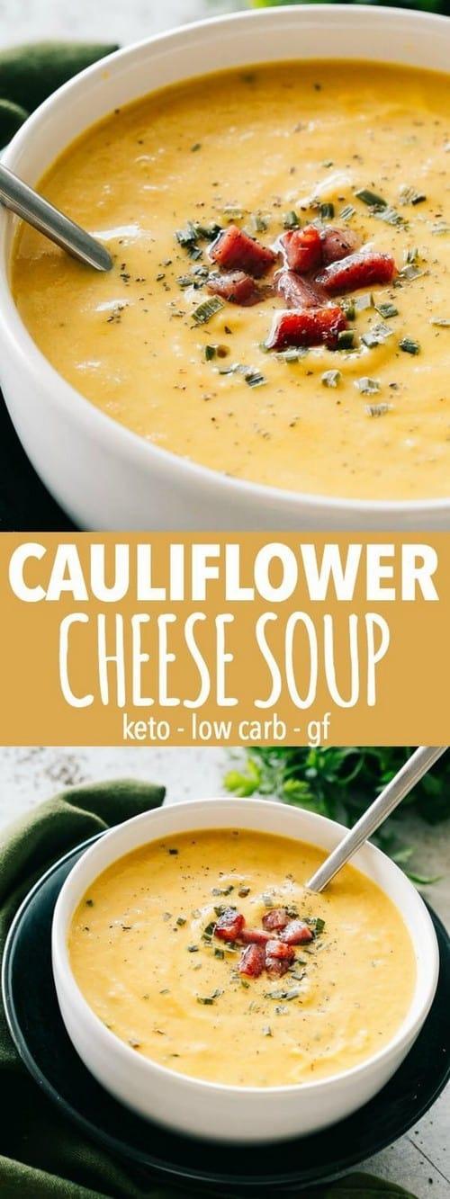 Keto Cauliflower Cheese Soup