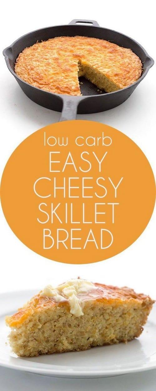 Keto Cheesy Skillet Bread