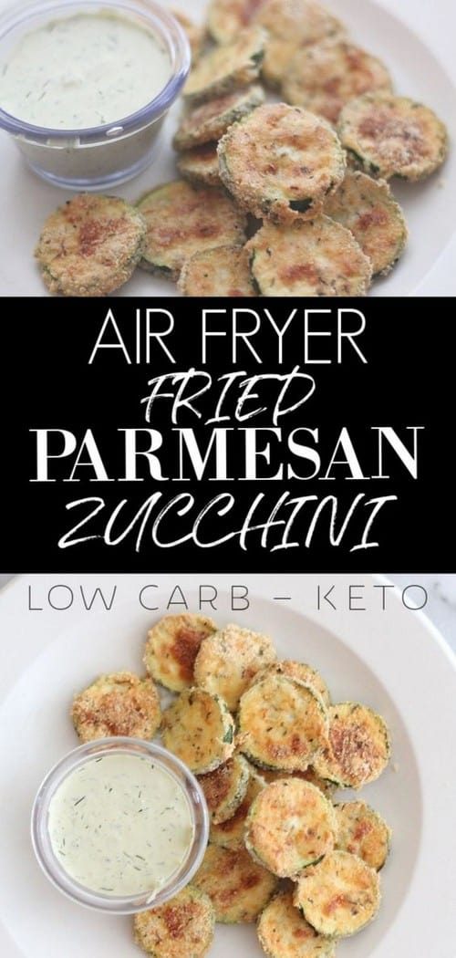 Keto Air Fryer Fried Parmesan Zucchini