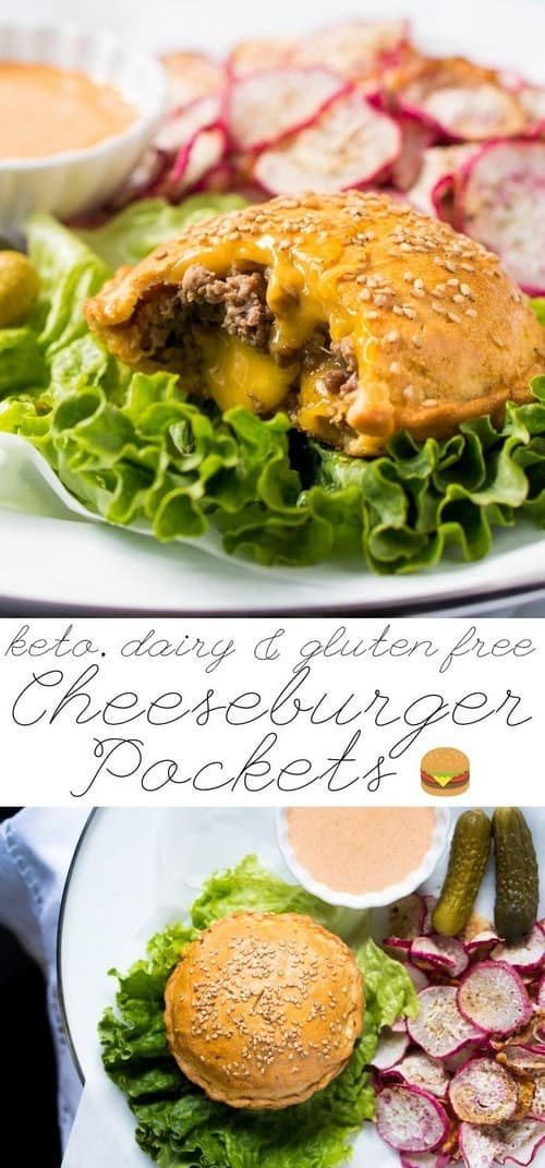 Gluten Free & Keto Cheeseburger Pockets