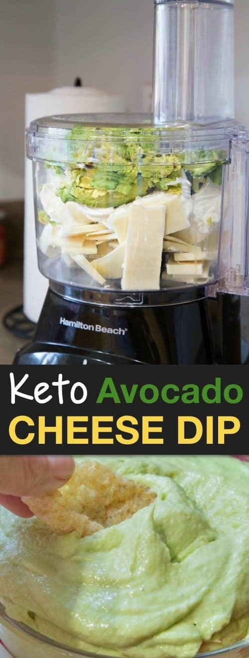 Keto Avocado Cheese Dip