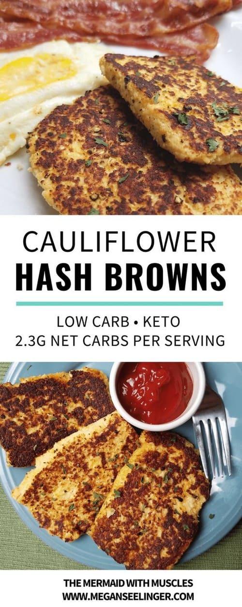 Keto Cauliflower Hash Browns