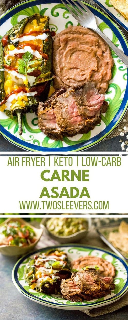 Keto Air Fried Carne Asada