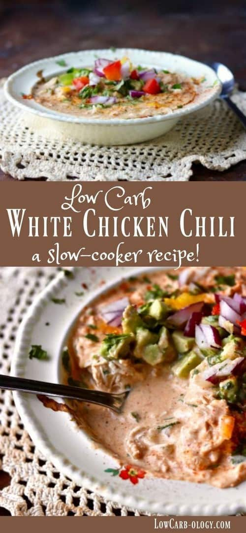 White Chicken Chili: Creamy Keto Low-Carb Goodness