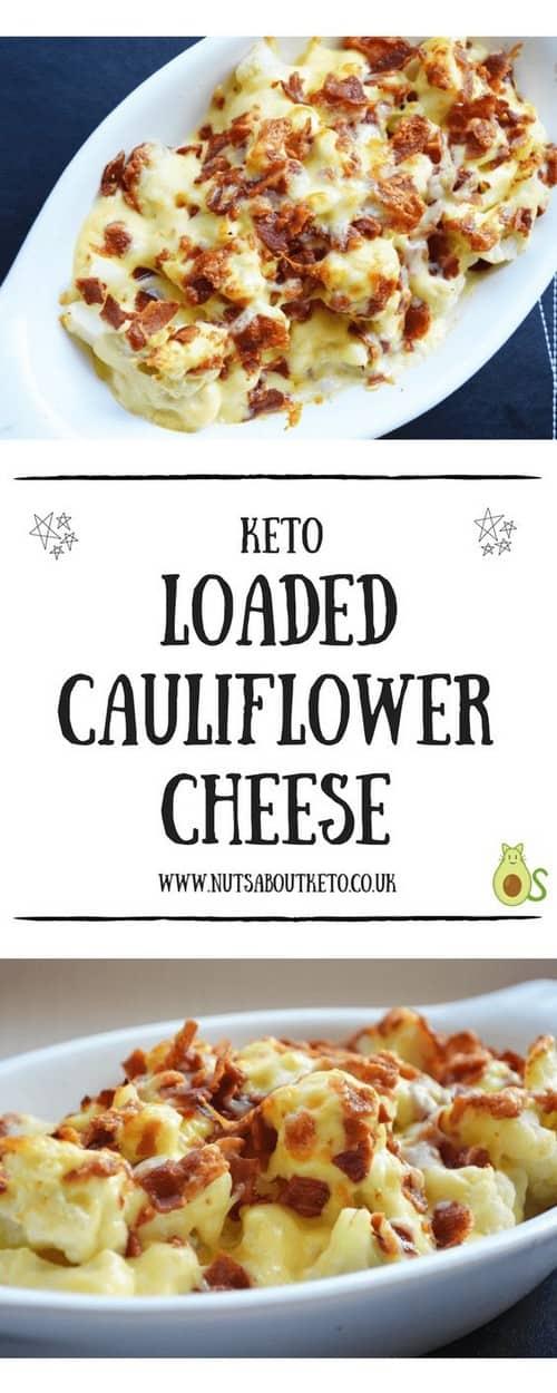 Keto Loaded Cauliflower Cheese with Crispy Bacon
