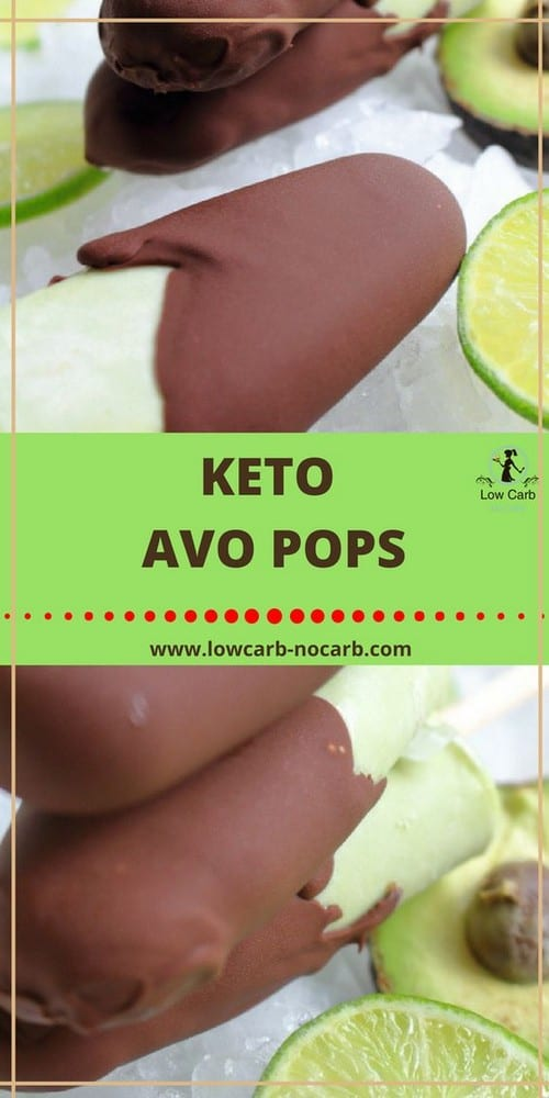 Keto Avocado Popsicles