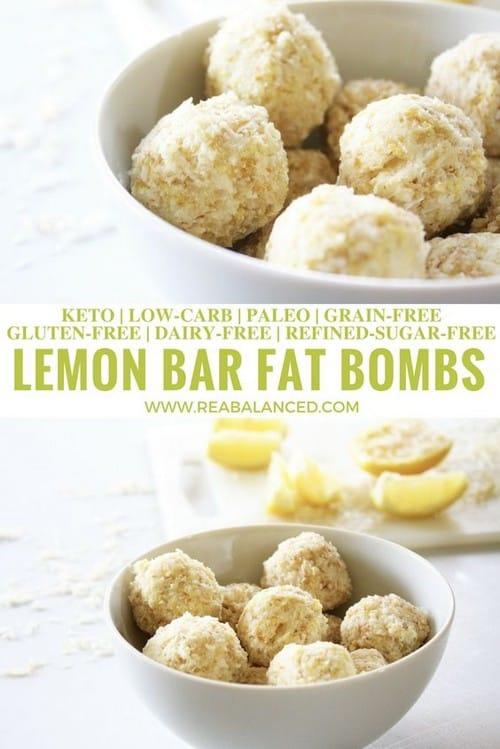 Keto Lemon Bar Fat Bombs
