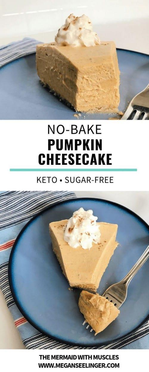 No-Bake Keto Pumpkin Cheesecake