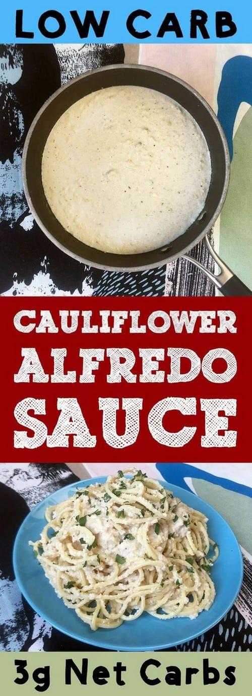 Low Carb Keto Roasted Cauliflower Alfredo Sauce