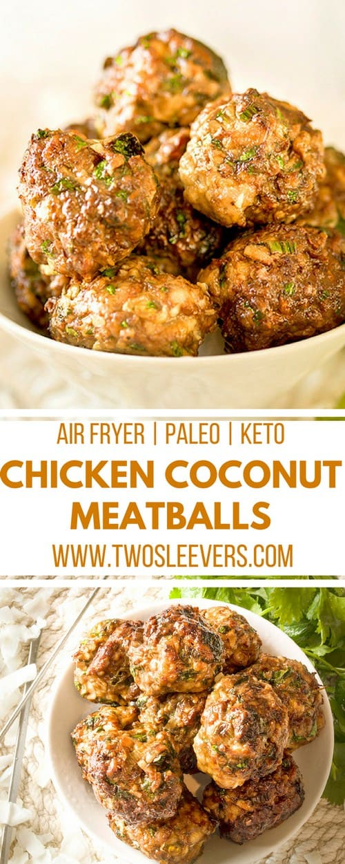 Keto Chicken Coconut Meatballs