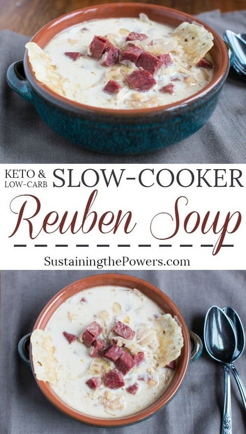 Keto Slow-Cooker Reuben Soup