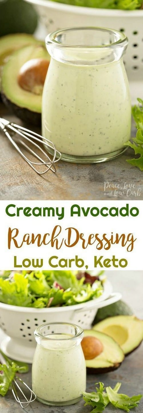 Keto Creamy Avocado Ranch Dressing