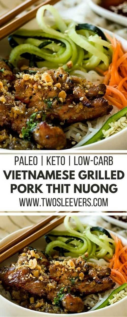 Keto Air Fryer Vietnamese Grilled Pork Thit Nuong