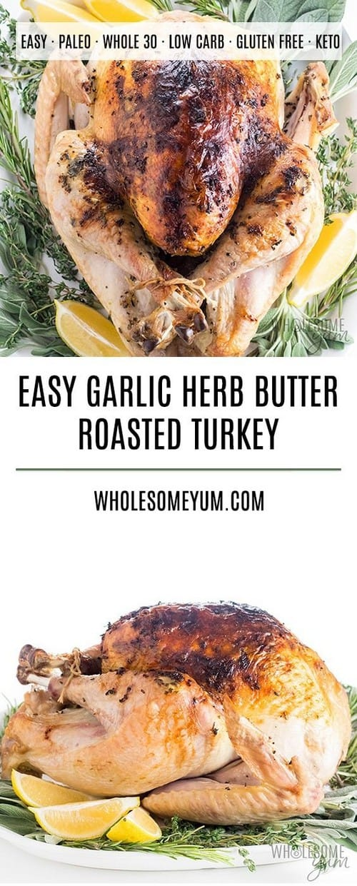 Easy Keto Garlic Butter Herb Roasted Turkey
