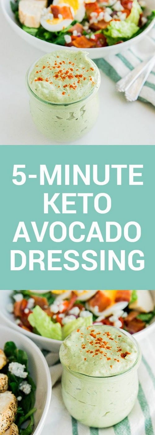 5-Minute Keto Avocado Dressing