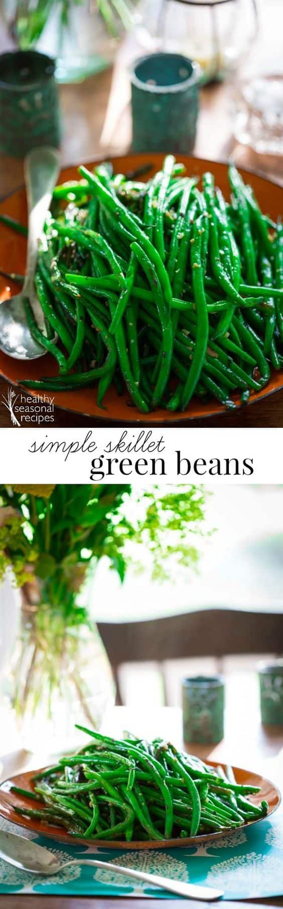 Keto Simple Skillet Green Beans