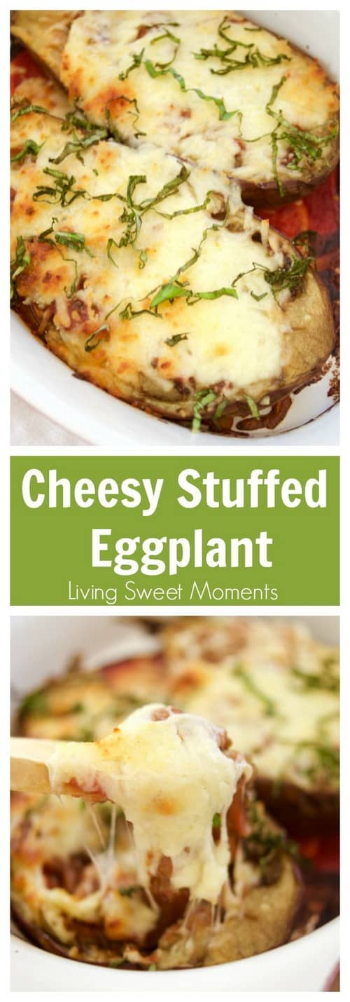 Keto Cheesy Stuffed Eggplant