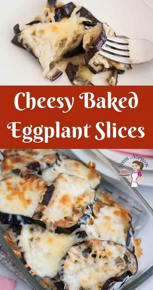 Keto Cheesy Baked Eggplant Slices