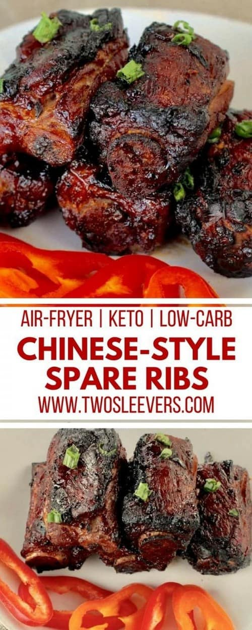 Keto Air Fryer Chinese-Style Spareribs