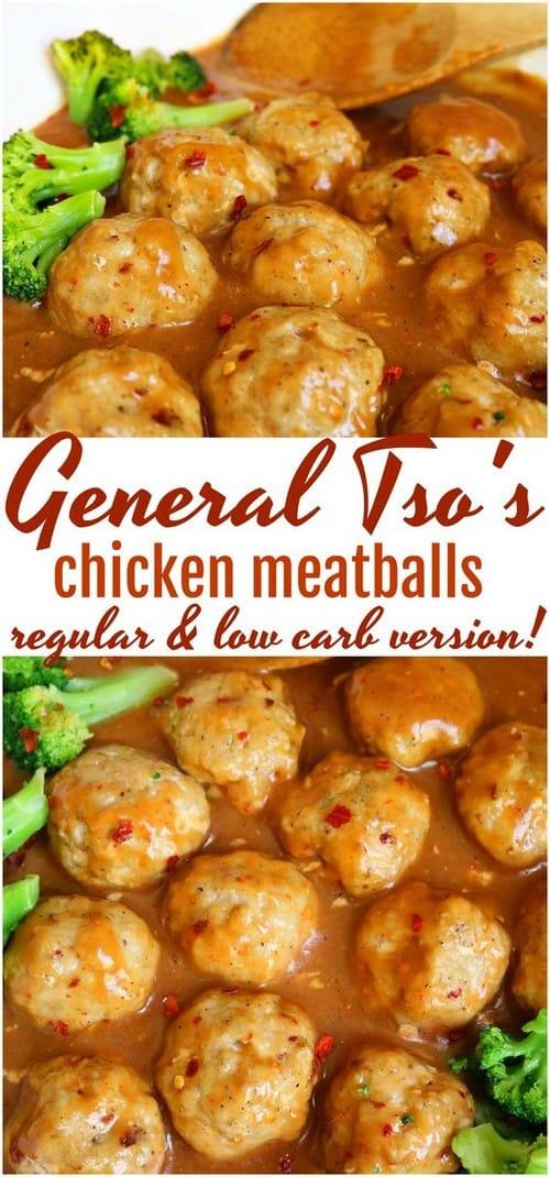 Keto General Tso Chicken Meatballs
