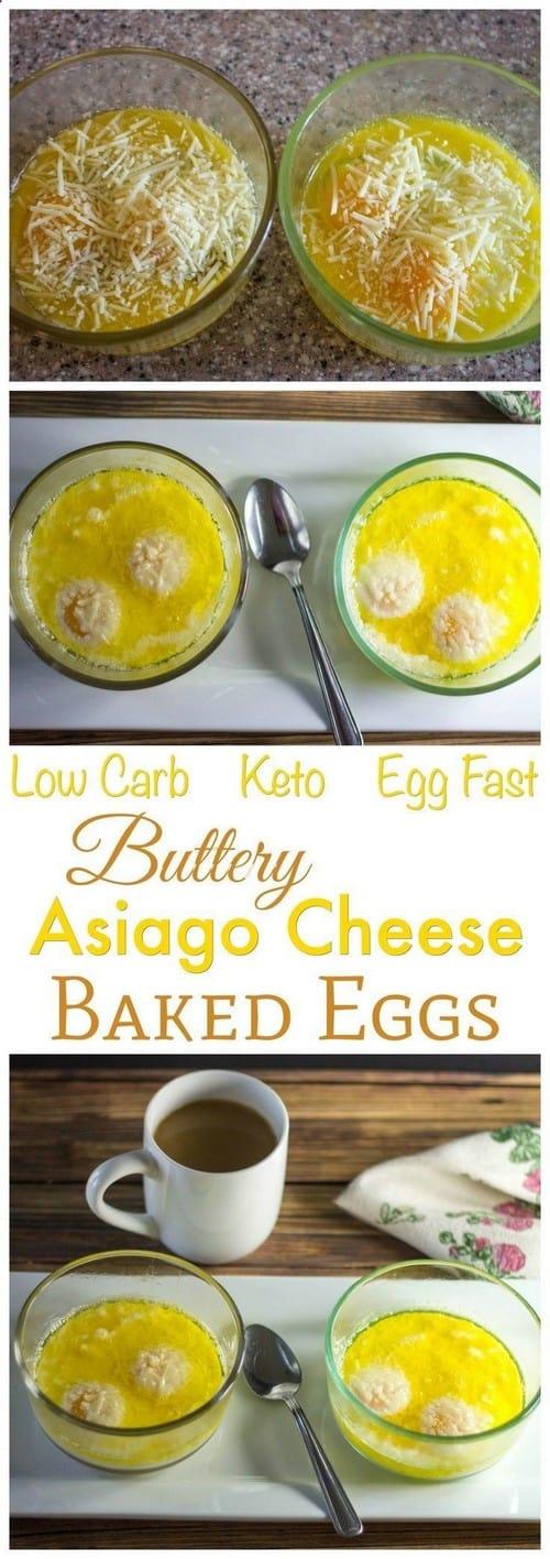 Keto Buttery Asiago Baked Eggs
