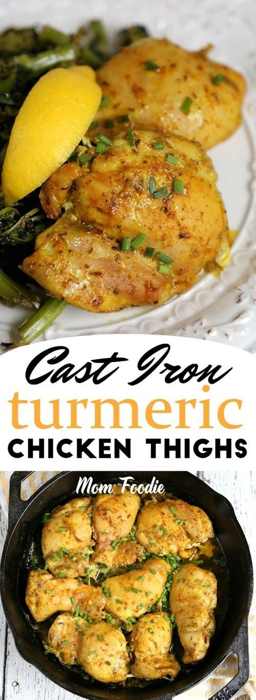 Keto Cast Iron Chicken Thighs: Baked Turmeric Chicken Thighs