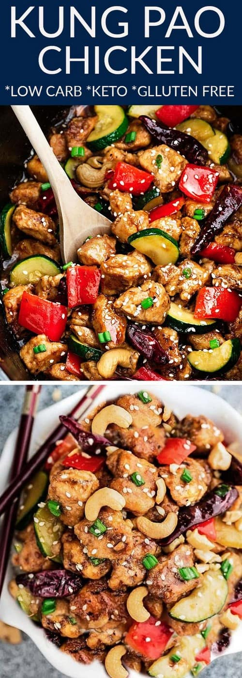 Keto Low Carb Kung Pao Chicken