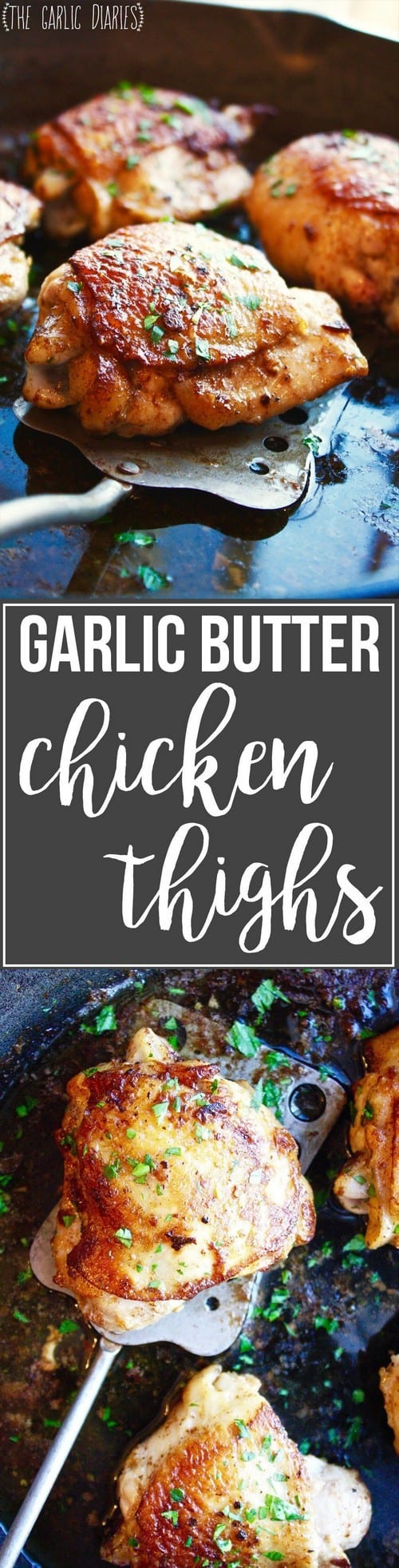 Keto Garlic Butter Chicken Thighs