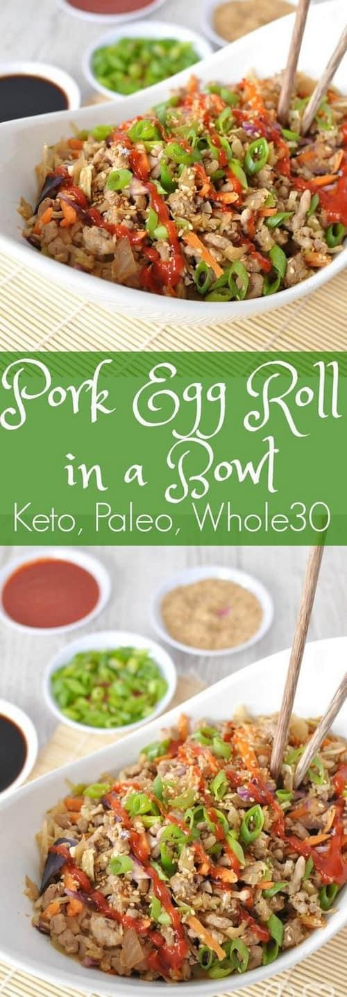 Keto Pork Egg Roll in a Bowl